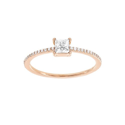 LUSSO 18K Gold Ring with VS-VVS Diamonds