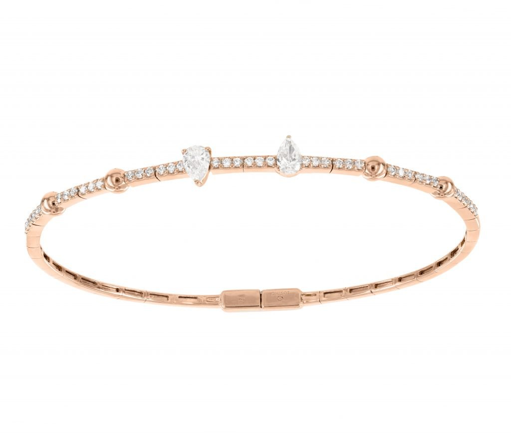 LANCIA 18K Gold Bracelet with VS-VVS Diamonds